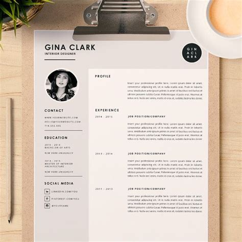 interior design resume template word resume template cover letter template for word diy