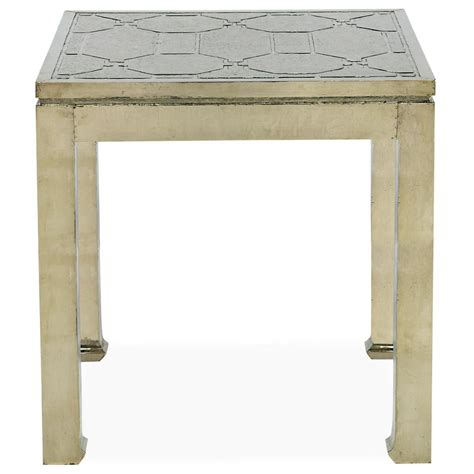 Silver Side Table Jodie Regency German Silver Side Table Kathy Kuo Home