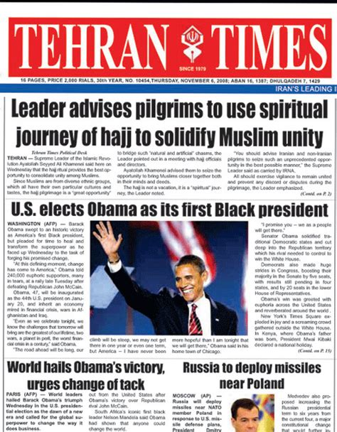 news iran iranian newspapers ahmadinejad react to obama huffpost