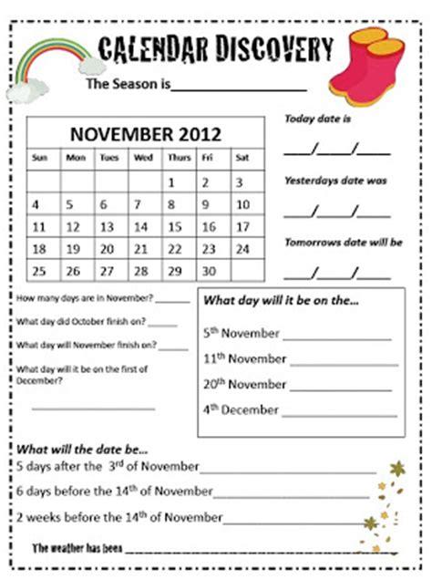 Calendar Questions Worksheets Calendar Questions For 1st Grade Calendar Template 2016