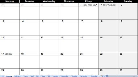 calendar template with holidays excel calendar template 2011 holidays