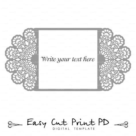 Wedding Invitation Lace Crochet Doily Pattern Card Template Svg Dxf Dwg Ai Eps Png Pdf Free Cut Pro Templates