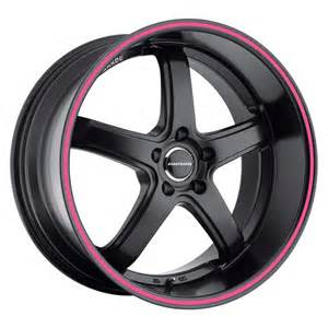 avant garde wheels avant garde m350 matte black with pink