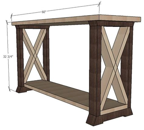 leg console table   easy project plans