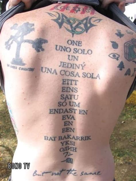 u2 tattoo u2 holy this person s back is u2 central