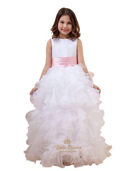pink flower floor l pink floor length flower dresses wedding dresses in