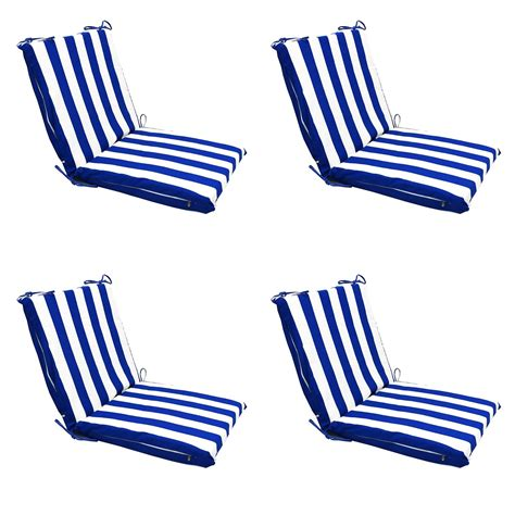 Patio Chair Cushions Ebay Ca Blue Stripes Patio Lounge Chaise Dining Chair Foam Cushion