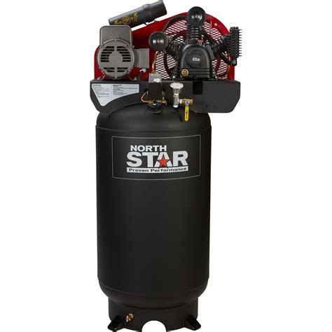free shipping northstar electric air compressor 5 hp 80 gallon vertical 230 volt 14 9 cfm