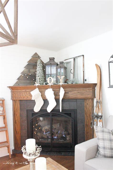 how to decorate a fireplace for christmas how to decorate a corner fireplace mantel for the holidays making it in the mountains