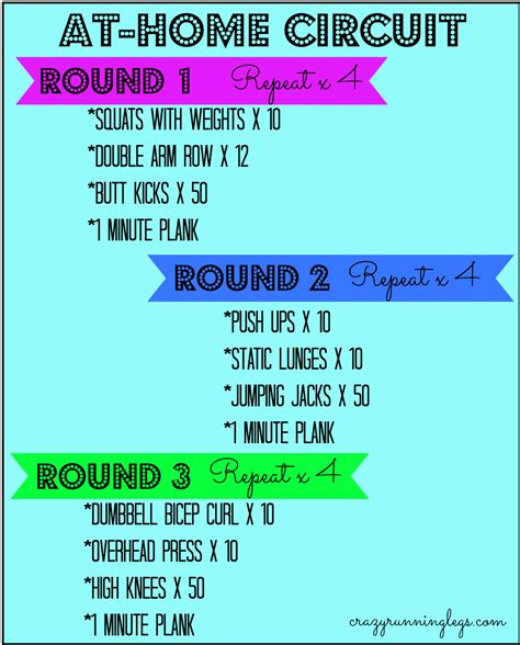 weight loss plan home workout