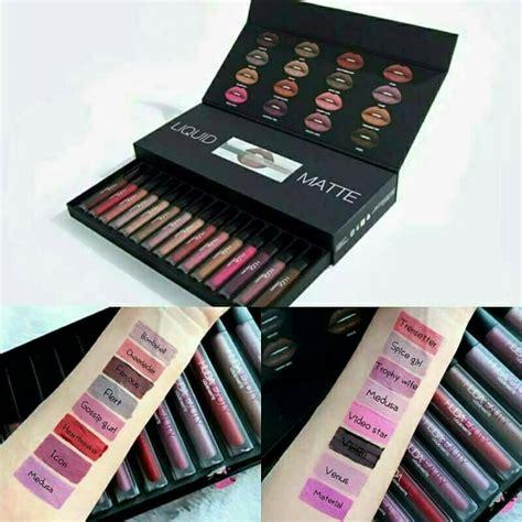 Huda Lip Matte 16 Pc huda 16 matte liquid lipstick box lazyshop pk