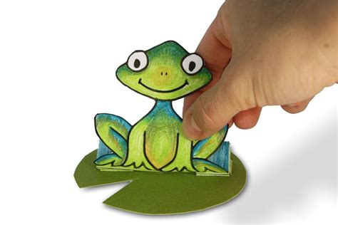 Frog With Paper - jumping paper frog family crafts