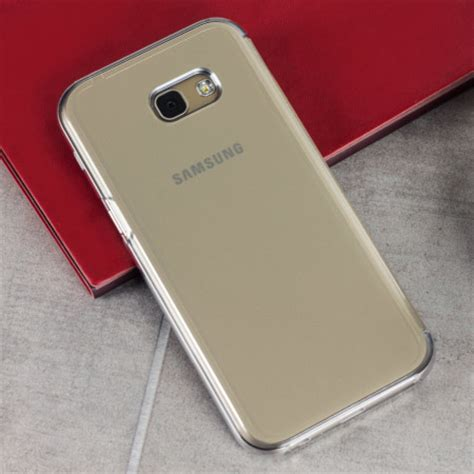 official samsung galaxy a5 2017 clear view cover case gold
