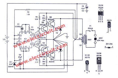 berbagi ilmu rangkaian inverter 12v dc to 220v ac 100 dc to ac converter circuit projects 12v to 220vac