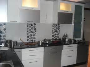Modern Kitchen Grey Kitchen Gharexpert Glubdubs Bedroom Wall Tiles Design India