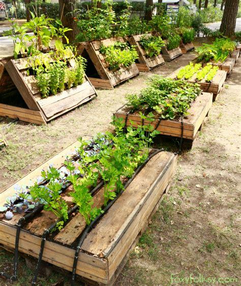 Vegetable Planterbag Raised Bed Tomato Print pallet garden foxy folksy