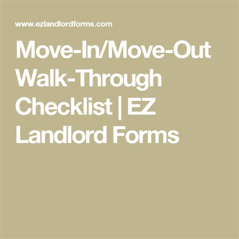 move in move out walk through checklist ez landlord