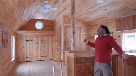 build  tiny house  huge kitchen full bath walk
