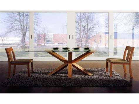 wood and glass dining table and chairs modern glass