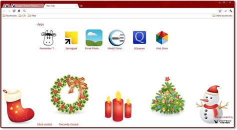 themes about christmas google chrome themes christmas holiday themes