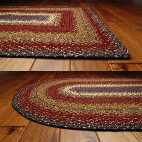 cabin rug log cabin step cotton braided rugs