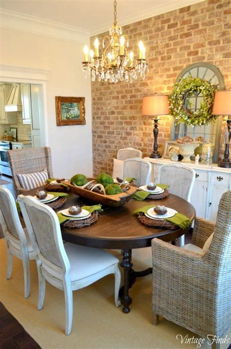 What To Put On Dining Room Table 10 Do It Yourself Decorating Ideas Table And Chairs And Exposed Brick