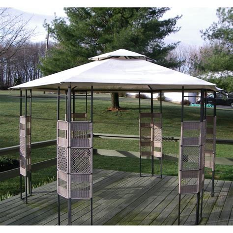 boscov s hexagon gazebo replacement canopy garden winds