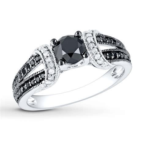 jared black white ring 1 ct tw cut 10k