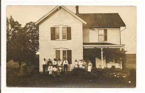 early 1900s vintage farmhouse pioneer family photo by
