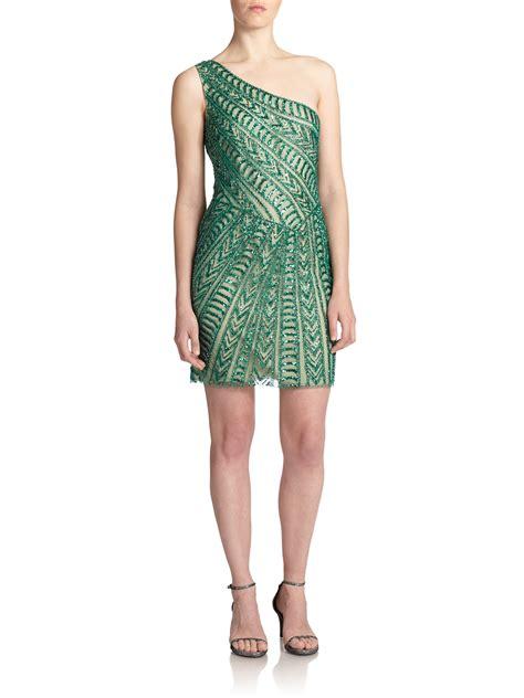 Dress Import One Shoulder 1712 basix black label one shoulder embellish dress green size 6 452 228 ebay