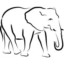 animal outlines elephant outline animals wall stickers transfers ebay