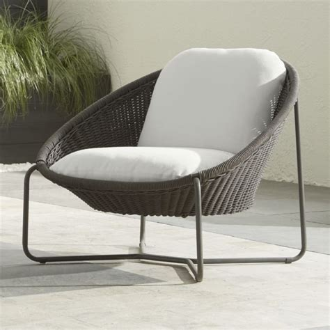Outdoor Lounge Chair Cushion by Morocco Charcoal Oval Lounge Chair With Cushion Crate And