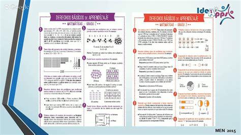 estandares de matematica reflexi 243 n de est 225 ndares b 225 sicos de competencia y derechos