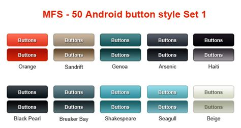 layout xml button how to customize button in android without using image
