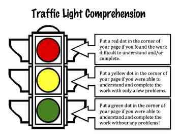 traffic light poster for classroom traffic light comprehension poster free in the