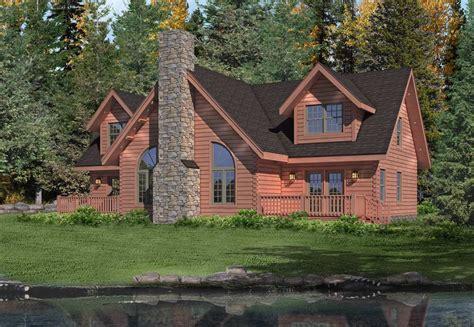 brookside ii log cabin plan by timberhaven log timber homes