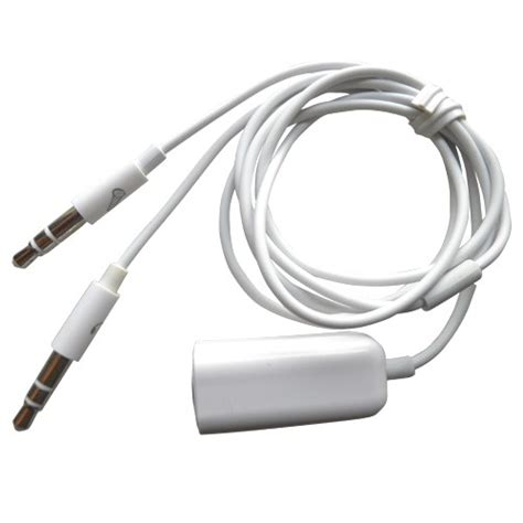 iphone headset to 3 5mm microphone headphone adapter for skype pc laptop mac ebay