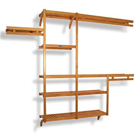 wood closet system shelving organizer storage wardrobe