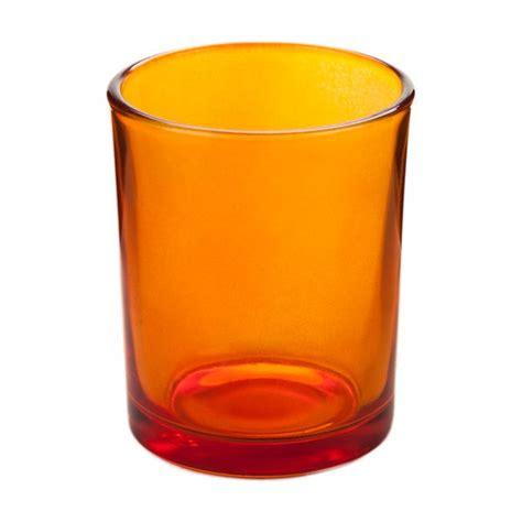 Rhinestone Vases Wholesale Orange Glass Votive Candle Holder