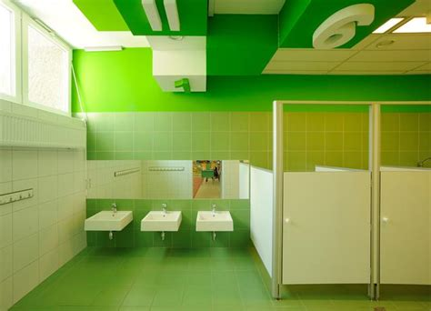 school bathroom decorating ideas colorful refurbishment kindergarten bathrooms places
