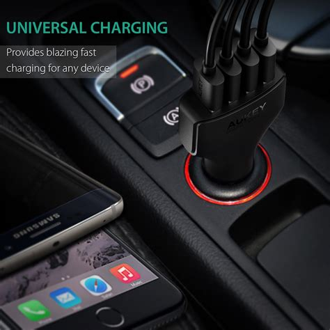 Aukey Usb Charger With Qualcomm Charge 20 Aipower aukey 54w 4 port usb qualcomm charge 2 0 car charger