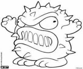 germit a nasty germ bin monster of trash pack coloring