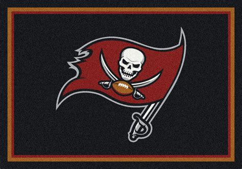 Sports Rugs Cheap by Milliken Nfl Spirit 00988 Ta Bay Buccaneers Team Area Rug