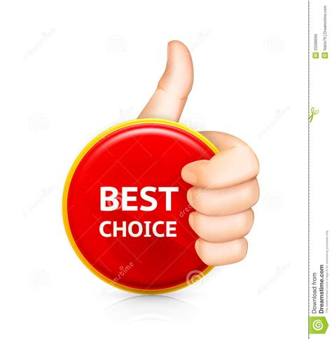 best royalty free best choice stock vector image of human gesture