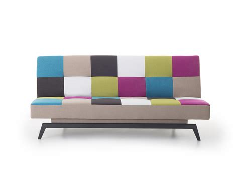 futon 2 places upholstered sofa bed fabric sofa settee