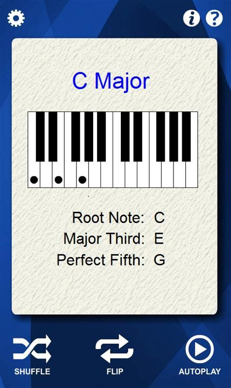 piano flashcards piano chords flash cards android apps on google play