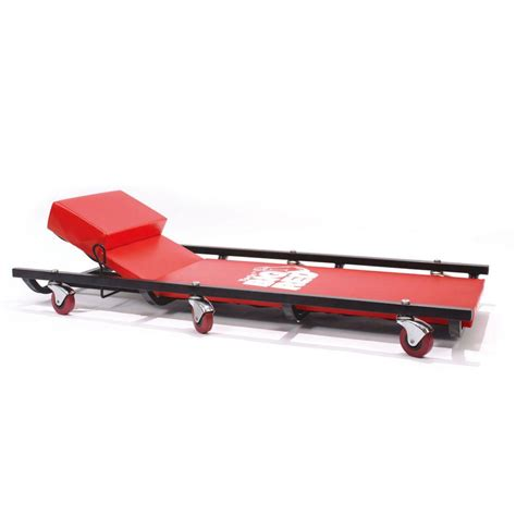 reclining creeper big red 200 lb capacity 40 in shop creeper with