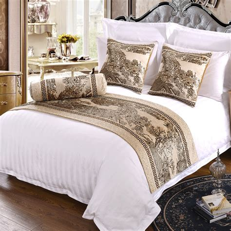 Hotel Bedding Collection Sets Discount Wholesale Luxury Hotel Collection Cotton Neck Pillowcase Bedding Cheap Hotel Linen 3 Cm Stripe