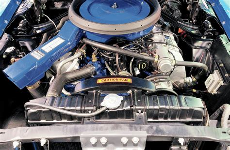 ford mustang engine bay photo   colors    boss  mustangs   mcacn