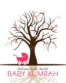 Baby Shower Thumbprint Tree Template by Best Photos Of Fingerprint Tree Template For Baby Baby